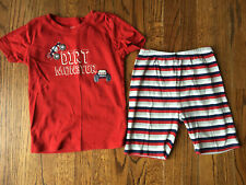 GUC Boys Gymboree Dirt Monster Shorts Pajamas Set 10
