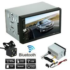 2 Din Car Stereo Audio MP5 MP3 Player Radio Bluetooth USB AUX +HD Parking Camera
