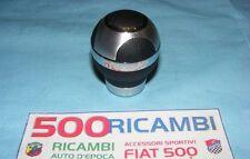 FIAT 500 F/L/R 126 POMELLO UNIVERSALE LEVA CAMBIO PELLE NERO E INSERTI CROMATO