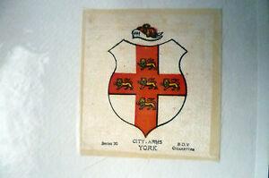 B.D.V. Cigarettes Silk- Series 30- CITY ARMS YORK Original Printed Silk