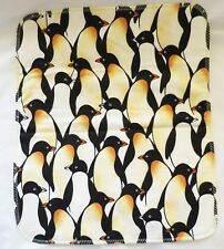 "New listing Sm pet fleece blanket guinea pig gerbil hedgehog ferret 14x16"" penguins #498"