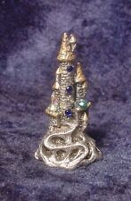 Pewter Castle with Winding Road & Crystals