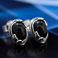 Onyx Silber 925 Ohrringe Damen Schmuck Sterlingsilber S0116