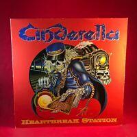 "CINDERELLA Heartbreak Station 1991 UK 3-track 12"" vinyl single EXCELLENT CONDITI"