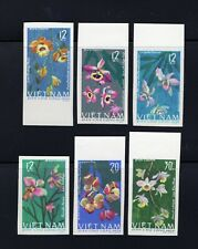 Vietnam 1966 complete Flower set IMPERF Michel #425-430 clean MNH