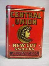 Vintage Central Union New Cut Tobacco Tin