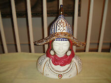 Superb Chinese Porcelain Bust Of Warrior Or Spiritual Leader-Wucai?-Detailed-WoW