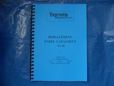 TRIUMPH TIGER CUB  PARTS BOOK No10 FOR T20,T20SS,T20SH. FOR 1965 MODELS