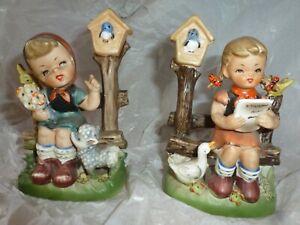 Vintage Retro Ceramic Figurers Children Sitting Foreign, Hummel?