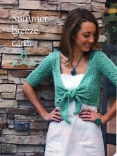 ~ American Knitting Patterns for lady's Lacy Cardigan Plissé-front haut et chaussettes ~