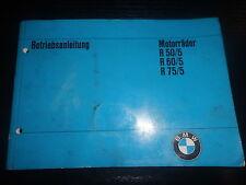 Betriebsanleitung Handbuch BMW R 50/5 R60/5 R75/5 instructions Motorrad Bike