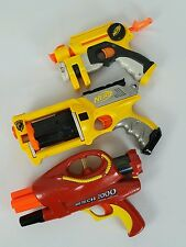 Lot of 3 Nerf Dart Guns Air Tech 2000, Maverick Rev-6, N-Strike EX-3 Nite Finder