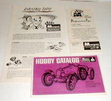 Monogram Slot Car group of three (3) vintage slot car racing leaf used slot car