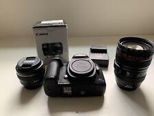 Canon 5D Mark iii with a Canon 50mm 1.4 & 24-105mm Lens (read description)