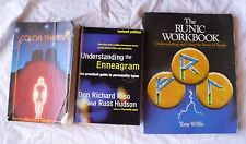 3 BOOKS COLOR THERAPY/UNDERSTANDING ENNEAGRAM PERSONALITY/RUNIC RUNES WORKBOOK