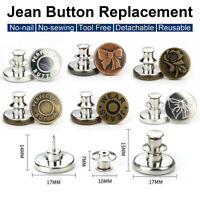 Button Pins Snap Fastener Metal  for Clothing Jeans Perfect Adjust Button ONY