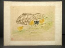 19th C to Early 20th C Chinese Painting on Silk Depicting Yellow & Black Chicks