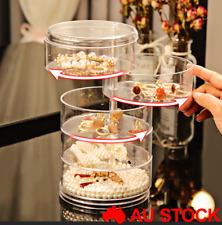 360° Rotating Jewelry Storage Box Organizer Case Earring Necklace Box Gift