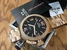 CB176 TW Steel 50mm Men Canteen Automatic Rose Gold PVD Stainless Bracelet Watch