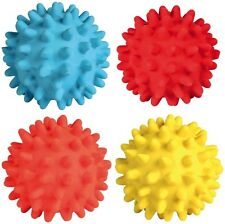 Latex Hedgehog Ball Dog Toy with Sound Squeaker 6cm