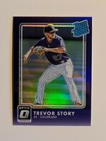 2016 Donruss Optic Trevor Story #53 Purple Refractor Rookie Card (RC) Rockies
