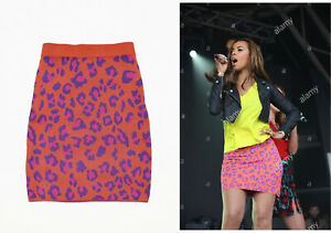 Boutique by Jaeger animal leopard print skirt seen on The Saturdays Celebrity S