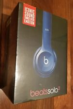 Beats Dr.Dre Solo2 Over-Ear wired Headband Headphone Blue Amer -New IN BOX