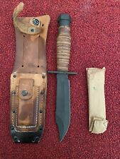 Vietnam Era Camillus NY Military Pilot Survival Fixed Blade Knife in Sheath  6""