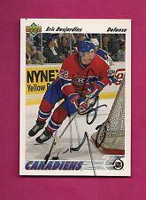 RARE CANADIENS ERIC DESJARDINS AUTOGRAPH CARD (INV# 9828)