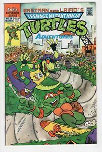 TEENAGE MUTANT NINJA TURTLES ADVENTURES 18 1ST MONDO 1991 Archie 9.2 NM- 3230