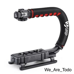 Zeadio - Handle Grip - Video Action Stabilizer - With Hot-Shoe Mount