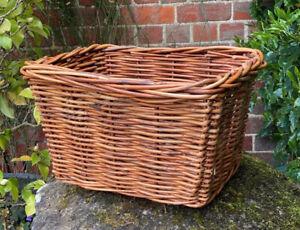 Vintage Genuine Wicker Hamper Storage Basket Toy Box - Beautiful & VGC!