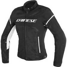 GIACCA DAINESE AIR FRAME D1 TEX  LADY NERO/BIANCO TG.46