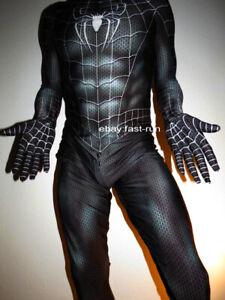 Neu New SPIDERMAN Suit Fullbody M Medium Skinsuit Body Einteiler Maske Mask