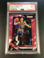 TRAE YOUNG 2018 PANINI PRIZM #78 PINK ICE REFRACTOR ROOKIE RC PSA 9 HAWKS NBA