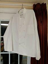 Gold Lion Ten Button Chef Coat Large (44-46) White Uniform Cotton Blend w/Cuff