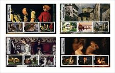 2017  PAUL CEZANNE   ART PAINTINGS 8 SOUVENIR SHEETS MNH UNPERFORATED