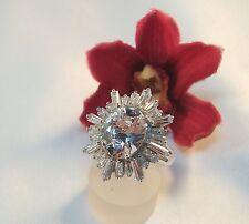 Eleganter Ring 925 Silber Fingerring mit Schmucksteinen   / bc 111