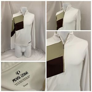 Pearl Izumi 1/2 Zip Pullover S White Cycling Poly Long Sleeve LNWOT YGI R1-900