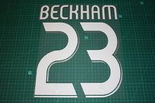 Real Madrid 06/07 #23 BECKHAM Awaykit / 3rd Awaykit Nameset Printing