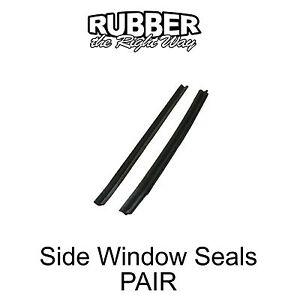 1960 - 1963 Ford Galaxie Rear Side Window Leading Edge Seals - pair - 4 DR HT