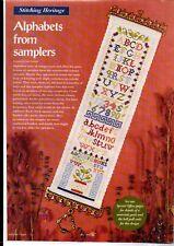 Mary Hickmott. Cross stitch chart. Band Sampler with alphabet