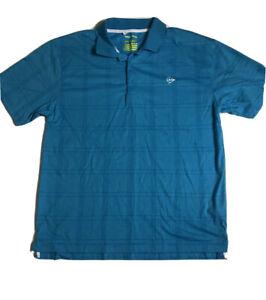 Dunlop Sports Shirt Size Large Blue Fitness Shirt Polo