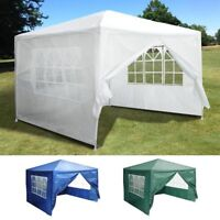 10'x10' Outdoor Tent Patio Wedding Canopy Party Marquee Pavilion w/ 4 Side Walls