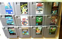 NES Game lot / 12 Game Games / Cleaned and tested!