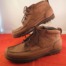 ROCKPORT W3069 BROWN NUBUCK LEATHER HIKING ANKLE LACE UP BOOTS WOMEN'S SIZE 7.5