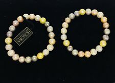 Honora Cultured Freshwater Pearl Stretch Bracelets set of 2 Multicolor