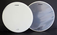 """NEW Set of 2 SONOR Logo REMO 14"""" TOP & BOTTOM SNARE DRUM HEADS"""