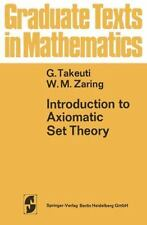 Graduate Texts in Mathematics: Introduction to Axiomatic Set Theory 8 paperback