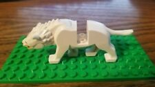 Lego Wolf - Animal Land - White Warg Minifigure - The Hobbit Lord of Rings